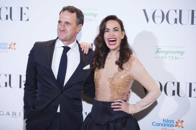 Cristina Rodríguez, junto a su pareja, Raúl García Gil, en una imagen reciente.