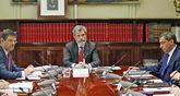 El ministro de Justicia, Rafael Catalá; el presidente del CGPJ,...