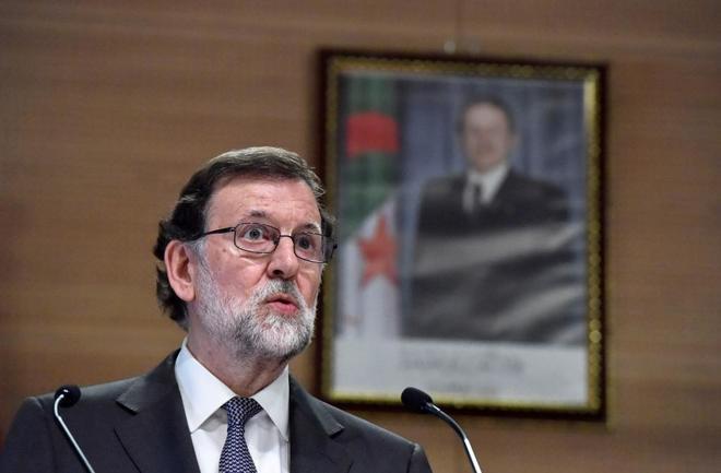 El presidente del Gobierno, Mariano Rajoy, en su último viaje a...