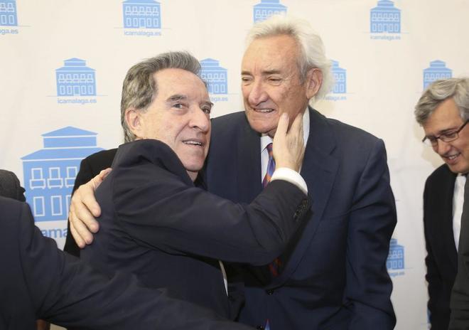 Luis del Olmo, con Iñaki Gabilondo (izquierda).