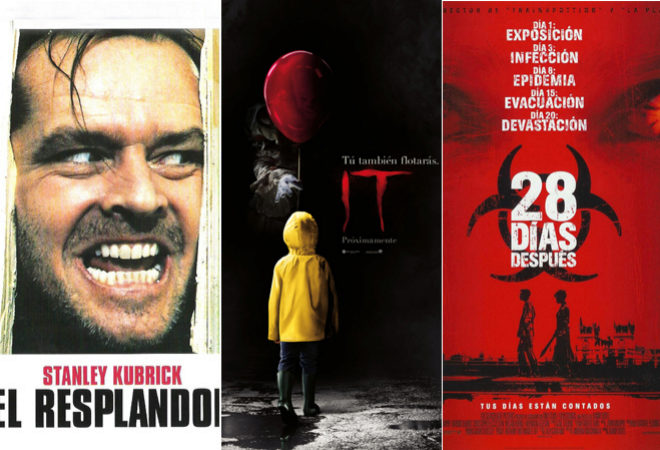 Los carteles de El resplandor, It y 28 días después