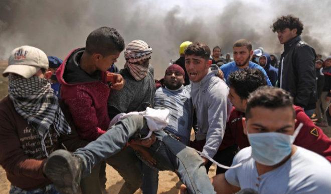 Al menos 9 palestinos muertos y 700 heridos en enfrentamientos en la frontera entre Gaza e Israel 15230173988748