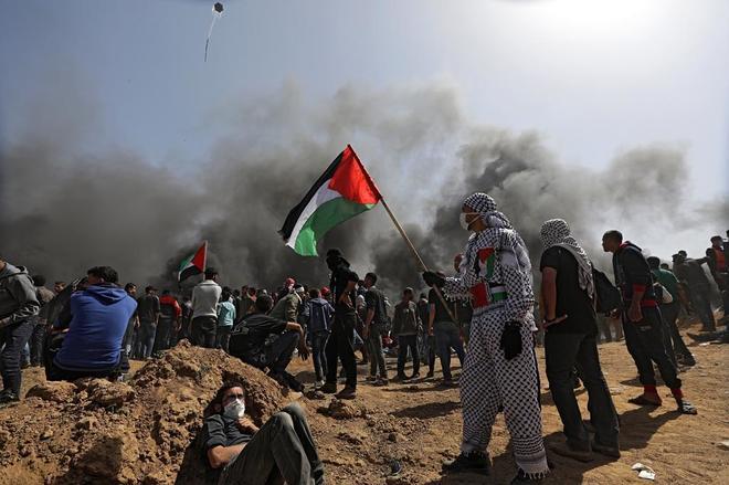 Al menos 9 palestinos muertos y 700 heridos en enfrentamientos en la frontera entre Gaza e Israel 15230310013295