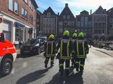 Bomberos, policías y médicos en el lugar del atropello en Alemania.