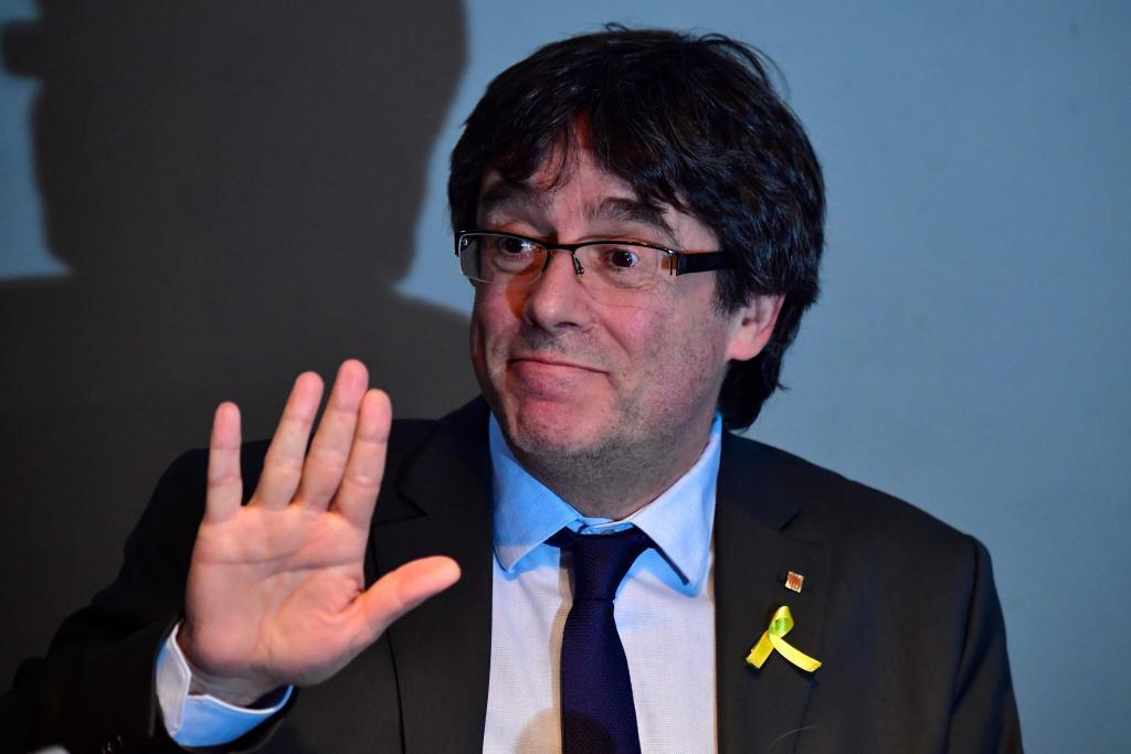 Carles Puigdemont, en la rueda de prensa celebrada en Berlín el...