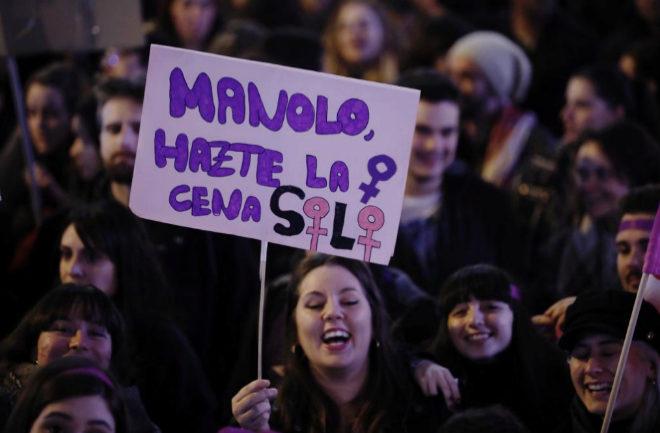 Manifestación feminista del pasado 8 de marzo en Madrid.
