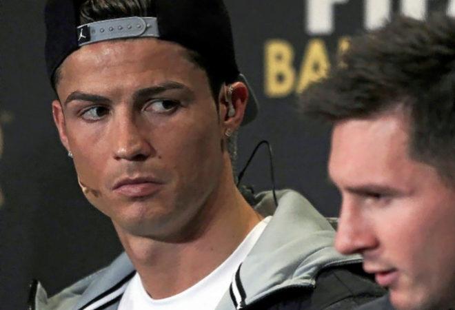 Cristiano y Messi, durante una gala del Balón de Oro.