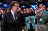 El presidente del Gobierno, Mariano Rajoy, en la Convención Nacional...