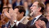 El presidente del Gobierno, Mariano Rajoy, durante la Convención...