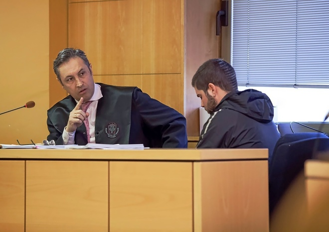 Sergio Díaz, el pasado mes de marzo, durante el juicio en Santa Cruz de Tenerife