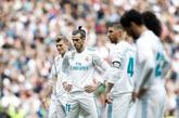 Toni Kroos, Garath Bale y Sergio Ramos, durante el partido ante el...