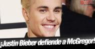 Justin Bieber defiende a Conor McGregor tras su polémica del autobús