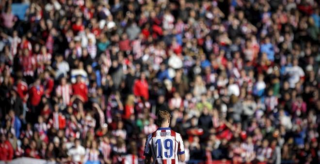 Torres, en su vuelta al Atlético, en enero de 2015.