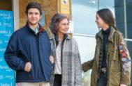 Froilán, este fin de semana, junto a su abuela y su hermana.