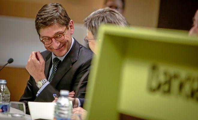 El presidente de Bankia, José Ignacio Goirigolzarri, con el presidente de la Generalitat, Ximo Puig, el año pasado.