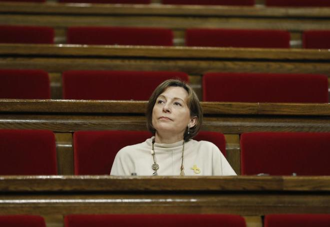 Carme Forcadell durante el pleno del Parlament celebrado el pasado 1 de marzo.