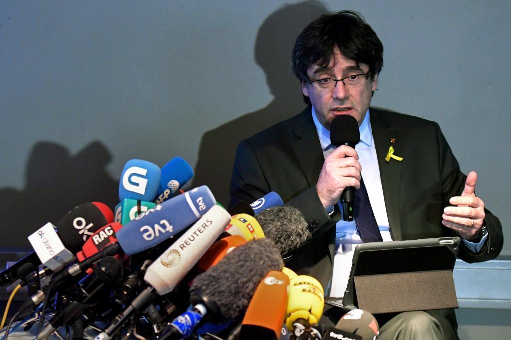 Carles Puigdemont, en una rueda de prensa celebrada en Berlín el...