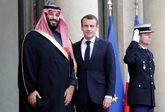 Mohammed bin Salman con Emmanuel Macron este martes en el Elíseo.