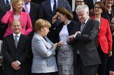 La canciller Angela Merkel y el ministro del Interior Horst Seehofer...