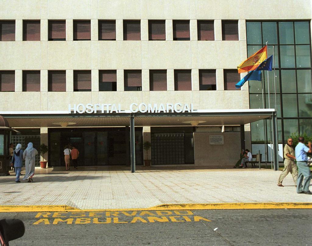Fachada del Hospital Comarcal de Melilla.