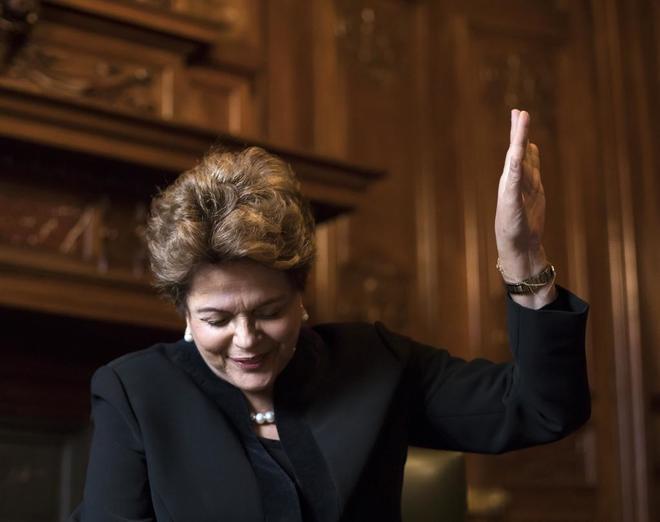 La ex presidenta de Brasil Dilma Rousseff, durante la entrevista.