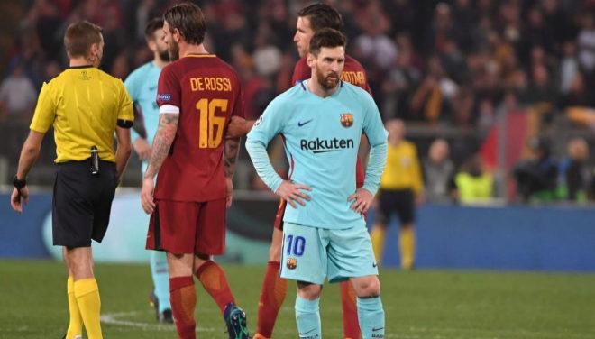 Leo Messi, durante el partido en el Olímpico de Roma.