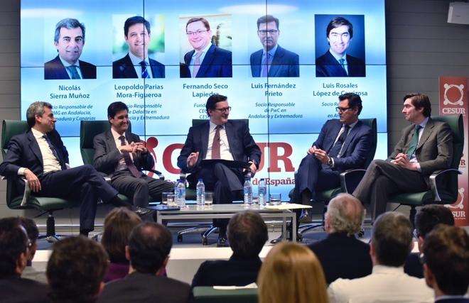 Un momento del debate de Cesur sobre los retos de la empresa andaluza