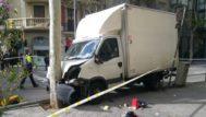 Un accidente con un camión deja siete heridos en el centro de Barcelona