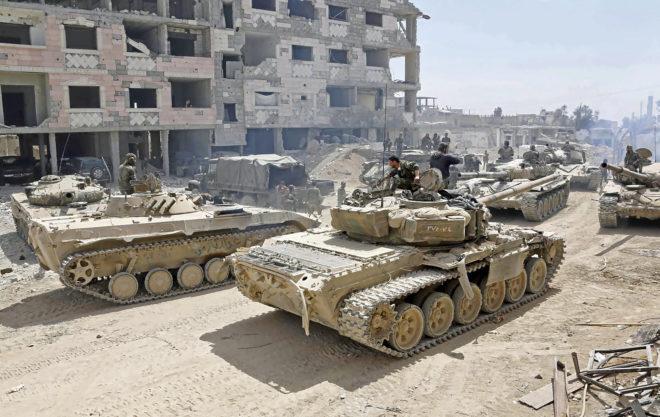 Ante la amenaza de un bombardeo estadounidense, el ejército sirio