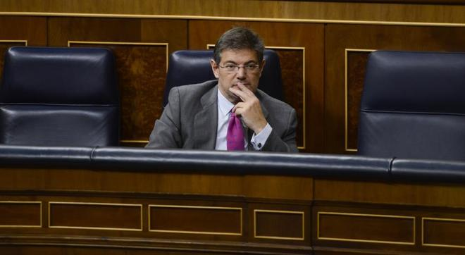 El ministro de Justicia, Rafael Catalá, en el Congreso de los...
