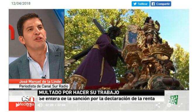 A la izquierda José Manuel de la Linde, a la derecha imágenes del Gran Poder.