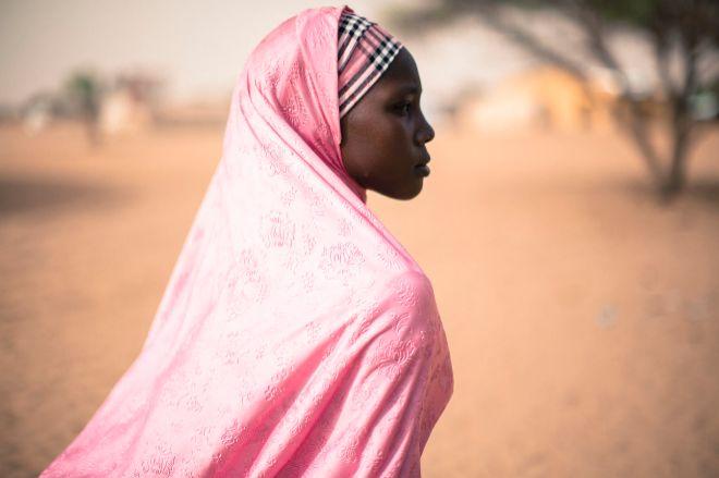 Una niña nigeriana, víctima de Boko Haram