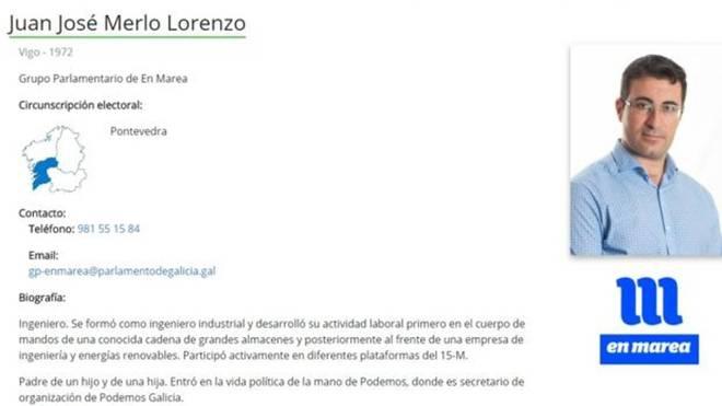 Dimite el diputado de Podemos en Galicia que infló su currículum diciendo que era ingeniero