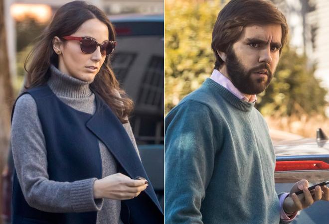 Alejandra Romero y su futuro marido, Pedro Armas, en dos imágenes recientes.