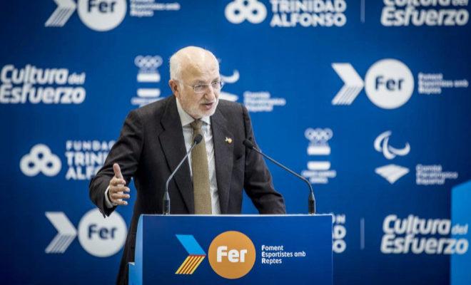 El presidente de la Fundación Trinidad Alfonso, Juan Roig, en la presentación de la sexta edición del Proyecto FER 2018.