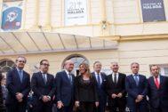 El alcalde de Málaga, la presidenta de la Junta, el ministro Méndez de Vigo y otras autoridades, en la inauguración.