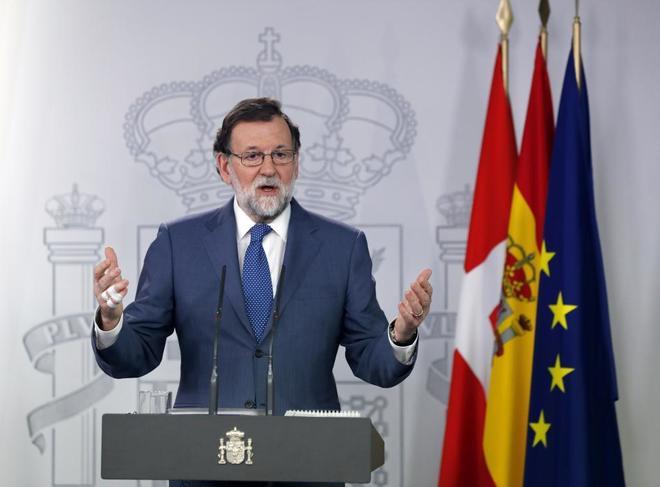 Mariano Rajoy, el viernes, en rueda de prensa en el Palacio de La Moncloa.
