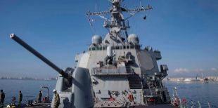 El destructor de la Marina estadounidense USS Donald Cook zarpa del...