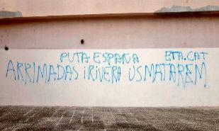 Pintadas amenazando de muerte a Albert Rivera e Inés Arrimadas en un...
