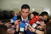 El líder del PSOE, Pedro Sánchez, el pasado día 10 en el Congreso...