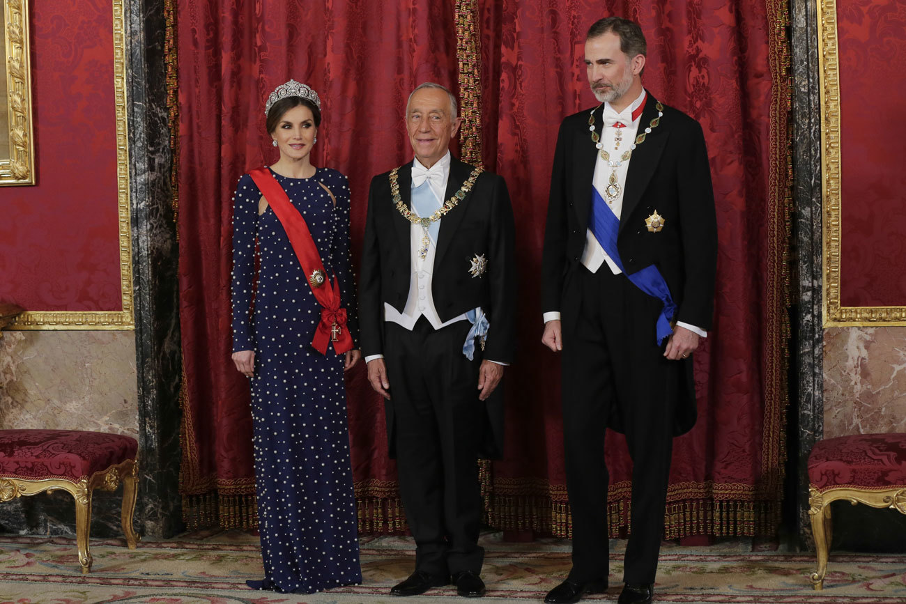 Doña Letizia, Marcelo Rebelo de Sousa y el Rey Felipe