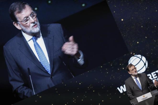 El presidente del Gobierno, Mariano Rajoy, en la inauguracion del XII...