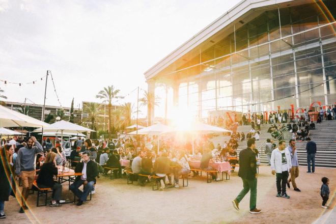 Imagen de la pasada edición del All Those Food Market en el TNC, que vuelve a celebrarse este fin de semana.