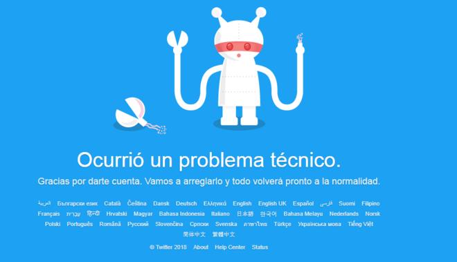 Twitter está caído a nivel mundial
