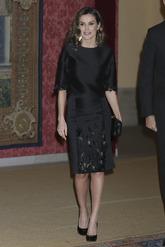 Durante la cena de gala organizada por el presidente de la República...