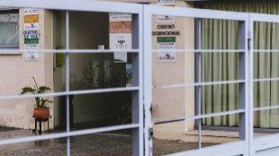 Entrada del centro ocupacional de Novaforma en Cáceres, donde...