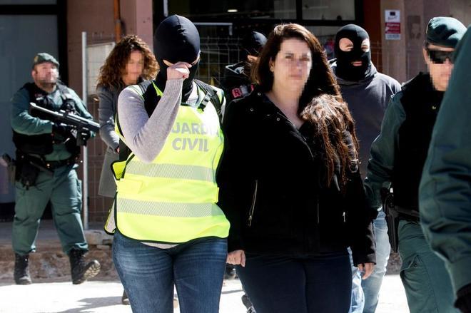 Tamara Carrasco, trasladada por la Guardia Civil tras ser detenida...