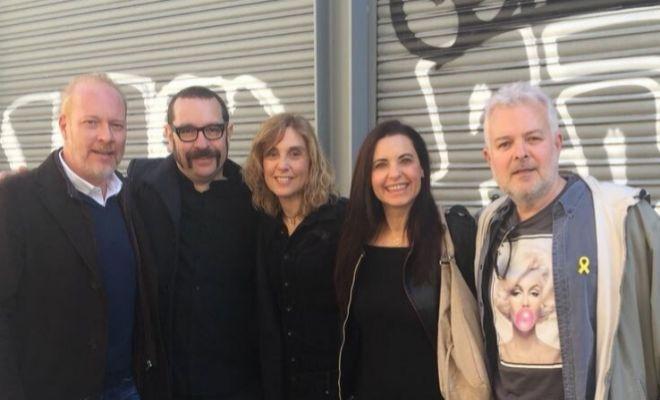De izquierda a derecha: Frank Díaz, David Muñoz, Yolanda Ventura, Gemma Prat y Tino Fernández.