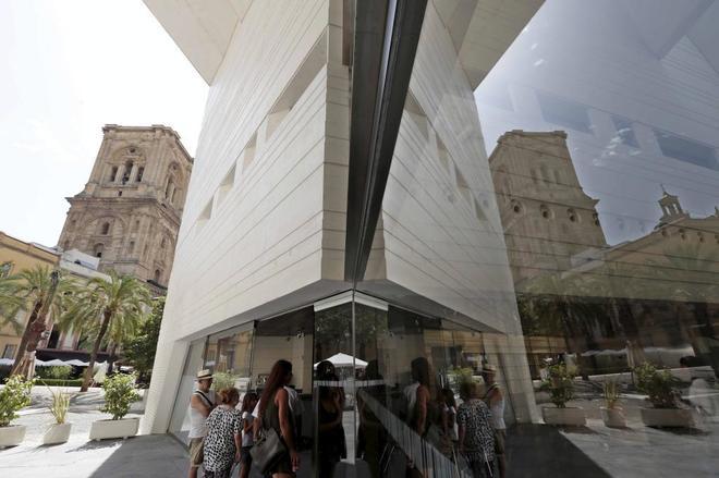 Aspecto de la fachada del Centro García Lorca de la plaza de la Romanilla en Granada