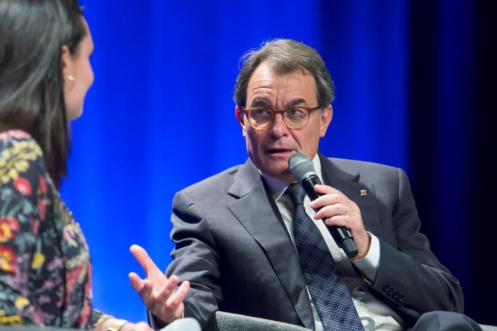 El ex presidente de la Generalitat Artur Mas hace una semana durante una ponencia sobre Cataluña en Lille